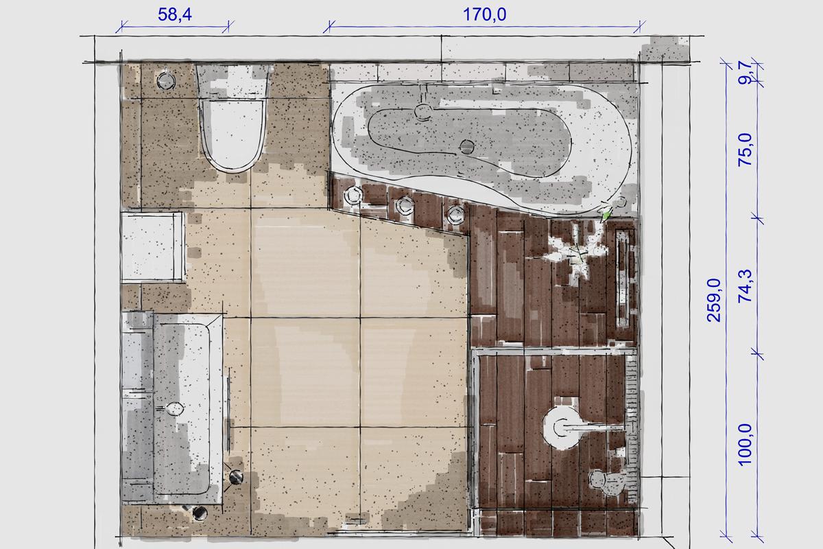 Grundrisse Zeichnen Planungsb 252 Ro Wolkober Bad Umbau Neubau Hausbau